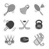 symboler för mapp fem för samlingsfärger inkluderar olika nivåvektorn Sportutrustning Arkivfoton