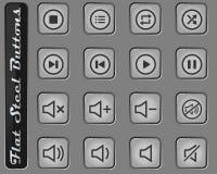 Symboler för massmediaspelare royaltyfri foto