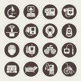 Symboler för medicinsk utrustning vektor illustrationer