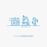 Symboler för mikro-strömkrets royaltyfri illustrationer