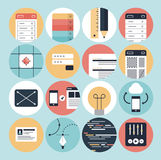 Symboler för modern rengöringsdukutveckling och för grafisk design Arkivbilder