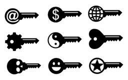 Symboler för nyckel- begrepp royaltyfri illustrationer