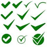 Symboler för objekt för kontrollfläck Arkivbild