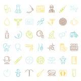 symboler för pappfärgsymbol ställde in vektorn för etiketter tre Arkivbilder