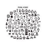 Symboler för PIXEL UI Royaltyfria Bilder
