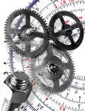 symboler för planläggande teknik Royaltyfri Foto