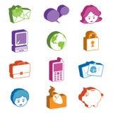 Symboler för rengöringsduk 3d vektor illustrationer