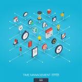 Symboler för rengöringsduk 3d för Tid ledning inbyggda Tillväxt- och framstegbegrepp stock illustrationer