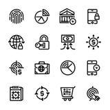 Symboler för samling 7, packa ihop service fotografering för bildbyråer