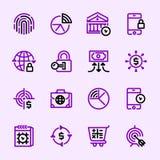 Symboler för samling 7, packa ihop service arkivbilder