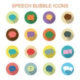 Symboler för skugga för färgrik anförandebubbla långa Arkivbild