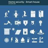 Symboler för Smart hemvektor Royaltyfri Illustrationer