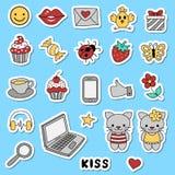 Symboler för sociala nätverk Royaltyfria Bilder