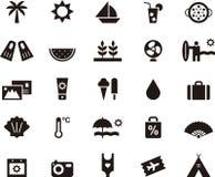 Symboler för sommar och ferier Arkivbild