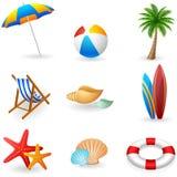 Symboler för sommarferie Arkivfoton