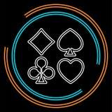 Symboler för spela kort för vektor royaltyfri illustrationer