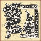 symboler för stil för kalendermayaprydnad Royaltyfri Foto