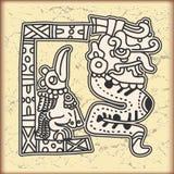 symboler för stil för kalendermayaprydnad Royaltyfria Bilder