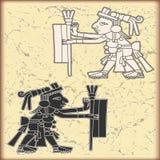 symboler för stil för kalendermayaprydnad Arkivfoto