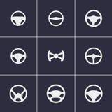 Symboler för styrninghjul vektor illustrationer