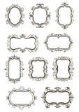 Symboler för tappninggränsram royaltyfri illustrationer