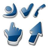 symboler för telefon för markör för checkmark 3d mänskliga Vektor Illustrationer