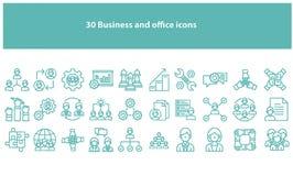 Symboler för för Torquoise vektoraffär och kontor vektor illustrationer