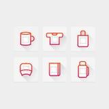 Symboler för tryck Royaltyfria Bilder