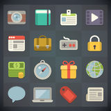 Symboler för universell lägenhet för rengöringsduk och mobiluppsättning 2 Arkivfoto