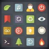 Symboler för universell lägenhet för rengöringsduk och mobiluppsättning 9 Royaltyfri Fotografi