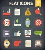 Symboler för universell lägenhet för rengöringsduk och mobiluppsättning 22 Royaltyfri Fotografi