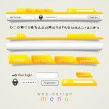 Symboler för uppsättning för navigering för rengöringsdukdesign Arkivfoton