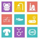 Symboler för uppsättning 11 för rengöringsdukdesign Royaltyfria Foton