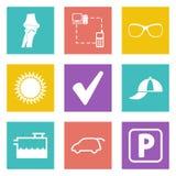 Symboler för uppsättning 13 för rengöringsdukdesign Royaltyfri Bild