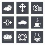Symboler för uppsättning 31 för rengöringsdukdesign Arkivfoton