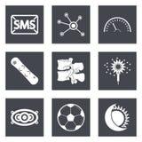 Symboler för uppsättning 40 för rengöringsdukdesign Arkivfoto