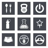 Symboler för uppsättning 41 för rengöringsdukdesign Arkivfoto