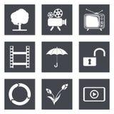 Symboler för uppsättning 44 för rengöringsdukdesign Arkivfoto