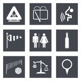 Symboler för uppsättning 45 för rengöringsdukdesign Royaltyfria Bilder