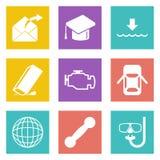 Symboler för uppsättning 17 för rengöringsdukdesign Arkivbilder
