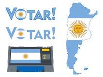 Symboler för val i Argentina vektor illustrationer