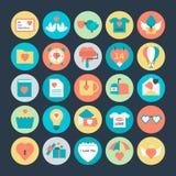 Symboler 4 för valentindagvektor Royaltyfri Bild