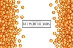 Symboler för vektor 3D Cryptocurrency Bitcoin Royaltyfri Foto