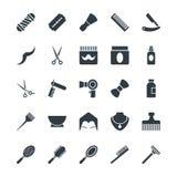 Symboler 1 för vektor för hårsalong kalla Arkivbilder