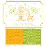 Symboler för vektor för Irland lopp linjära Arkivbild