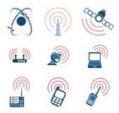 Symboler för vektor för radiosignal enkla Arkivfoto