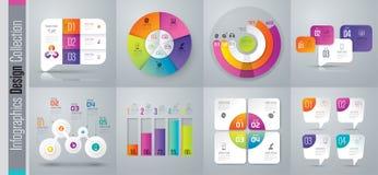 Symboler för vektor och för affär Infographics för fastställd design med alternativ stock illustrationer