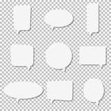 Symboler för vektor för vitbokanförandebubbla Royaltyfri Bild