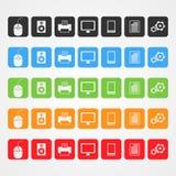 Symboler för vektordator Arkivfoton