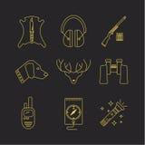 Symboler för vektorhjortjägare Royaltyfri Fotografi